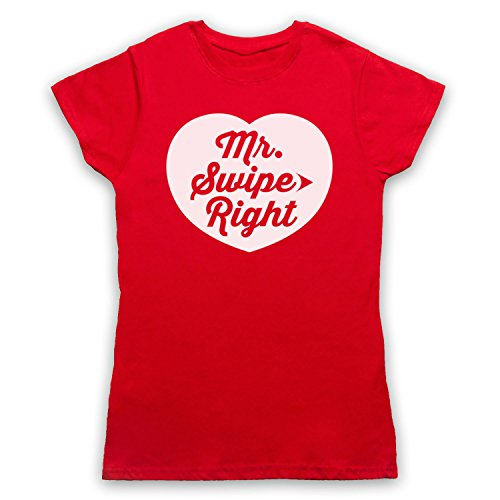 Mr Swipe Right Funny Dating App Slogan Camiseta para Mujer Rojo