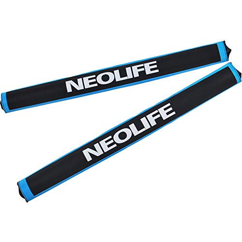 Neolife Aero Round Roof Rack Pads for Car Surfboard Kayak SUP Snowboard Racks 28 Inch Long Blue [Pair]