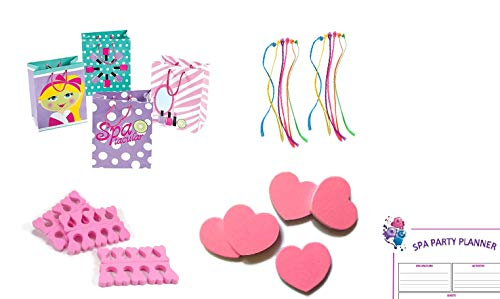 Party Favors for Kids Spa Party Birthday - Spa Party Supplies for Girls (61-Piece Set for 12 Guests) (Spa Bag Favor)