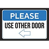 amazon com please use other door right arrow pointing business