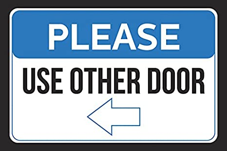 photograph relating to Please Use Other Door Signs Printable referred to as Remember to Hire Other Doorway Still left Arrow Workplace Personnel Purchaser Indication