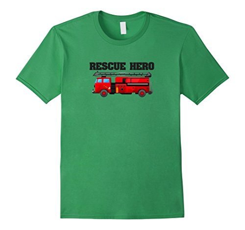 Mens Boys' Rescue Hero Toy Fire Truck T-Shirt For Toddler...