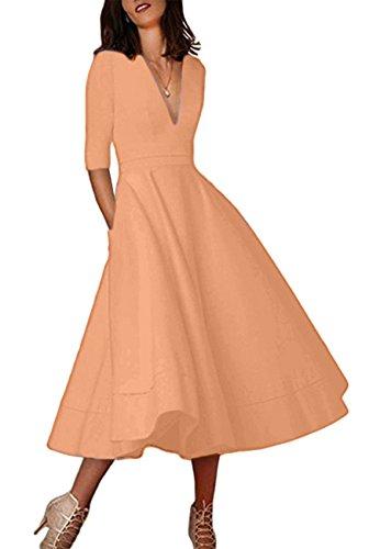Coral Dresses Dresses Women's Dresses OMZIN OMZIN Party Women's Coral Party Women's Party Coral OMZIN qxZg0qn6