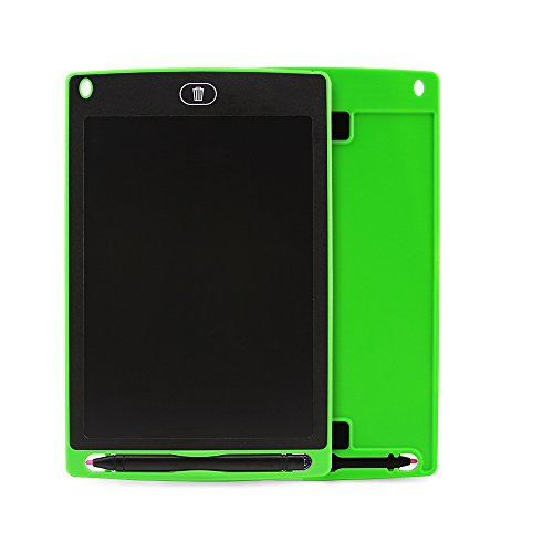 Sanwin 8.5 Inch Digital Ewriter LCD Drawing Tablet Eco Friendly Paperless Drawing/Doodle Pad for Kids,No Backlit Safe to Eyes Easy Use,Magnet Stick Fridge Memo Board Long Life 50000 Erase Time(Green) by Sanwin (Image #1)