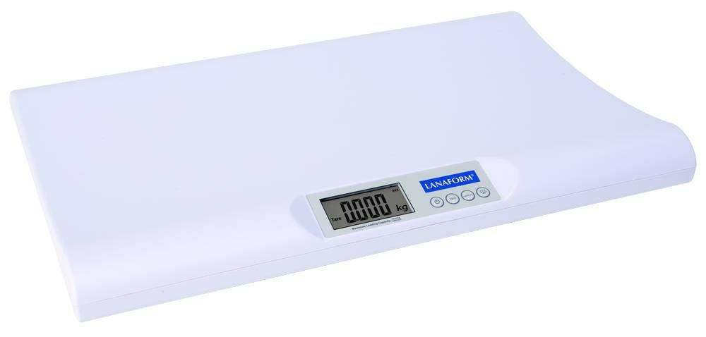 LANAFORM LA090324 Color blanco - Báscula para bebés (AA, 1,5 V, 540 mm, 34,5 cm, 57 mm): Amazon.es: Salud y cuidado personal