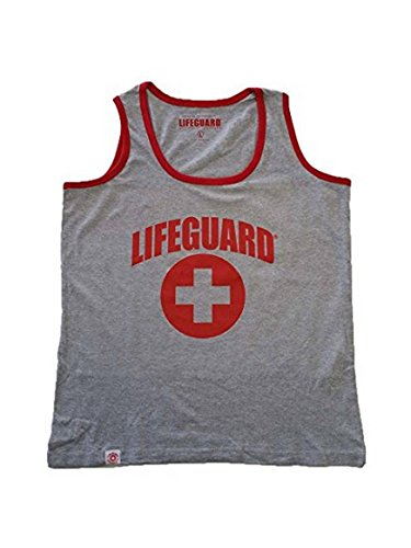 LIFEGUARD Officially Licensed Guys Muscle Tank Contrast Piping Edge 100% Cotton Men