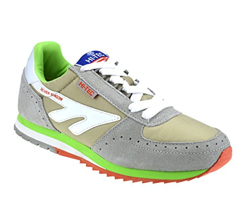 Hi Shadow Leather Sports Trainers Casual Grey Womens Tec Gym Suede Running Original ZqOOd