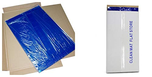 10 mat/Box, 30 Layers per mat, 24'' x 36'', 4.5 C Blue Sticky mat, Cleanroom Tacky Mats/PVC Sticky Mats/Adhesive Pads, Used for Floor (for Home/Laboratories/Medical Offices use)