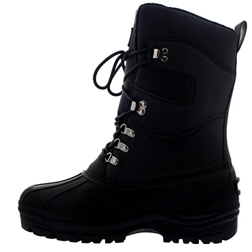 Mens Snow Hiking Mucker Duck Grafters Waterproof Saftey Thermal Boots Zwart