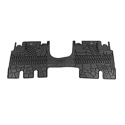 Mopar 82213860 Jeep Wrangler Unlimited 4-Door Black All-Weather 3-Piece Floor Mat Set: Automotive