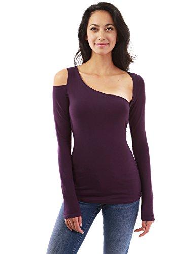 PattyBoutik Women's Asymmetric Cutout Long Sleeve Blouse