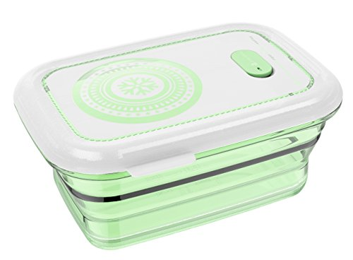 Partita Collapsible Food Storage Containers, Silicone Food Storage Containers with Lids, BPA Free, Dishwasher, Freezer and Microwave Safe 660ML Green by Partita