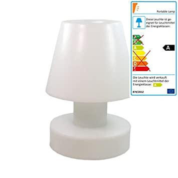 Bloom Gartenlampe Portable Lamp mit Akku 56 cm weiß