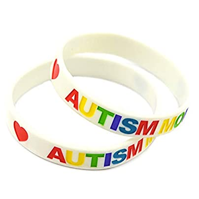 HAIHF Silicone Bracelet Autism Puzzle Silicone Bracelet Daily Reminder Colourful Wristband for Kids Teens Pairs Estimated Price £21.00 -