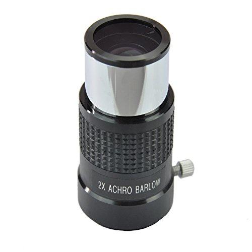 Gosky 1.25 Inch 2x Achromatic Barlow Lens for Newtonian Telescopes (Black)