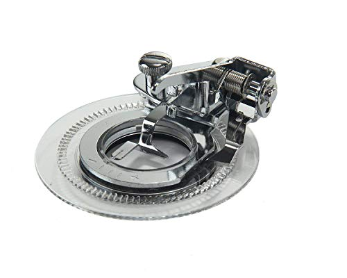 (Preamer Fancy Flower Stitch Foot Round Sewing Machine Presser Foot for Brother Singer Pfaff 3700L/5021L)