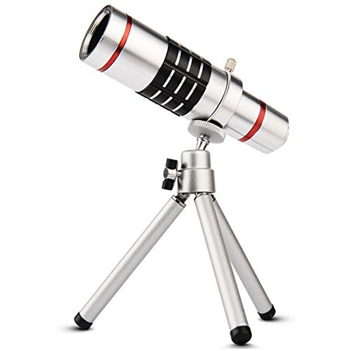 ACE Bilon Telephoto Lens for Smartphone - Mobile Camera Kit with 18X Telephoto, Wide Angle and Macro Lenses 3 in 1 - Universal Clip Attachment for iPhone 7 8 Plus & Android Cell Phone (18X)