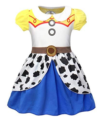 Little Girl Cowgirl Costume Ideas (Jurebecia Girls Toddler Jessie Costume Dress Jessie Dress Up Halloween Costume Fancy Dress Yellow Size)