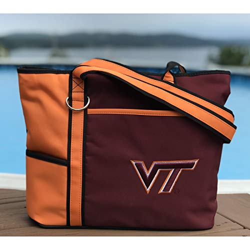 (NCAA Virginia Tech Hokies Tote Bag with Embroidered Logo)