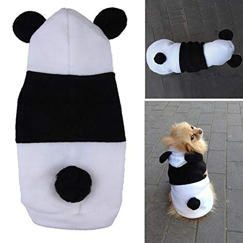 E-House Panda Supplies Gifts Cute Pet Dog Puppy Panda Fleece Autumn Hooded Apparel Costume Outfit Clothes - S]()