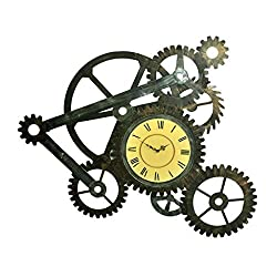 Statue Retro Industrial Wind Gear Mural Wall Decorations Bar Shop Net Cafe Store Stores Wall Decorations Creative Clocks Figurine