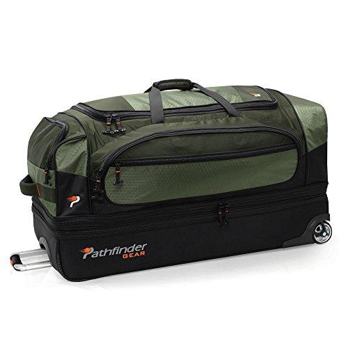 Pathfinder Gear 36 Inch Rolling Drop Bottom Duffel, Olive, One ()