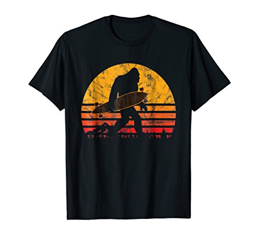 Longboard Bigfoot T-Shirt for Skateboard & Sasquatch Fans
