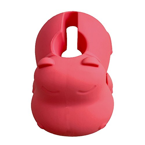 Mandoo Bath Spout Cover, For Baby Bath Safety, Cute Hippo Shape, Universal Fit- Pink by Mandoo