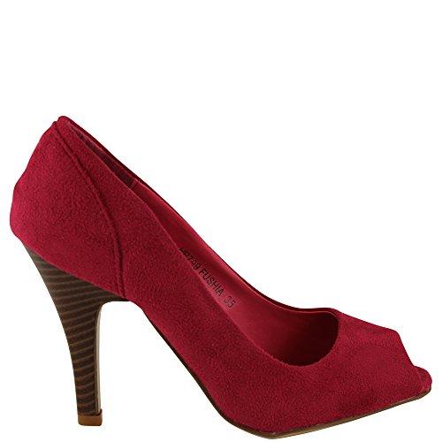 Unbekannt - Zapatos de vestir de Terciopelo para mujer Rosa - rosa