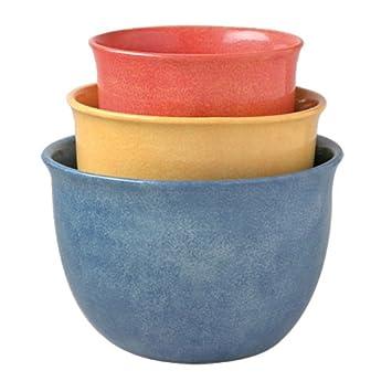 Pfaltzgraff Napoli 3-Piece Mixing Bowl Set  sc 1 st  Amazon.com & Amazon.com: Pfaltzgraff Napoli 3-Piece Mixing Bowl Set: Kitchen ...