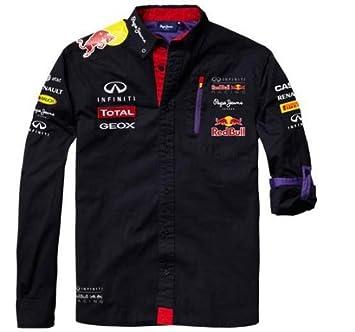 Red Bull Racing Teamline Chemise Homme, Bleu Rouge, L  Amazon.fr ... 7e2ad884fcb
