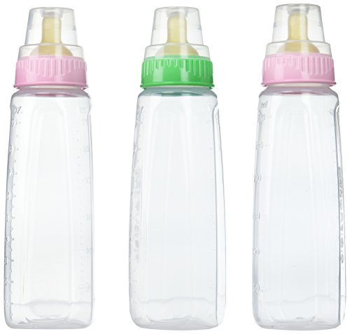 Gerber First Essential Clear View BPA Free Plastic Nurser with Latex Nipple, 9 Ounce, 3 Pack