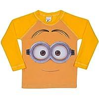 Camiseta Praia Manga Longa Meu Malvado Favorito, TipTop, Amarelo, 1T