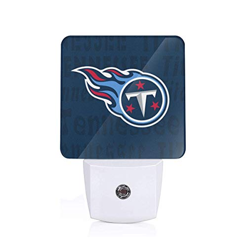 Gdcover Tennessee Titans Plug-in LED Night Light with Dusk-to-Dawn Sensor for Bedroom ()