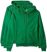 Marky G Apparel Men's California Fleece Zip Hooded Sweatshirt (3 Pack) (3 Packs), Kelly Gree