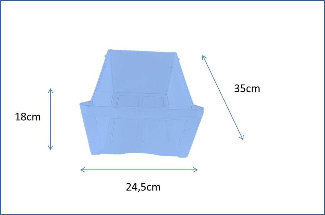 Polypropyl/ène avec roulettes 360/°tiroirs avec syst/ème darr/ête /à louverture 15L Argent Sundis Tour de Rangement 3
