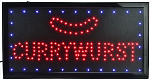 Currywurst LED Cartel Cartel nostálgico Publicidad placa ...