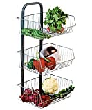 Great Value Premium Quality Metalic 3 Tier Vegetable Stand / Rack With Removable Baskets (H73, W33, D27.3cm) by Kitchen Ware / Kitchen Accessories