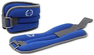 Da Vinci Adjustable Ankle or Wrist Weights, Sold in Pairs (Blue)