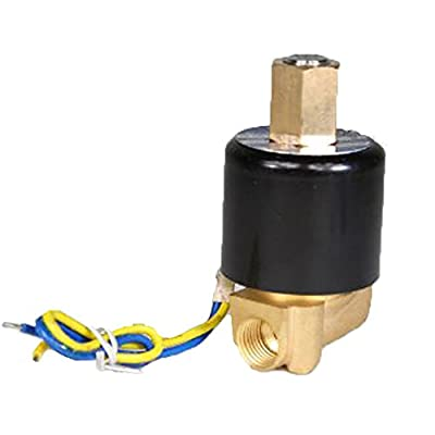 "PerfecTech Brass 2-Way 1/4"" DC 12V Gas Water Air Electric Solenoid Valve Normally Open from PerfecTech"