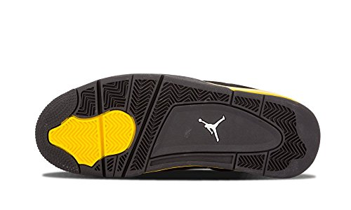Nike Air Jordan 4 Retro Thunder Black/White-Tour Yellow Trainer