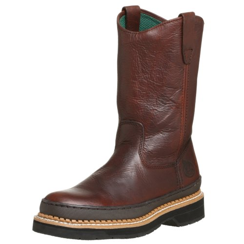 Georgia Boot Men's Georgia Giant Wellington Work Boot,Brown,10 (Waterproof Wellington Pull)