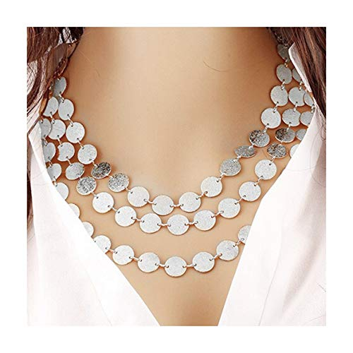 (VANSOON Deals! Women Multi-Layer Metal Clothing Accessories Bib Chain Necklace Jewelry Gifts)