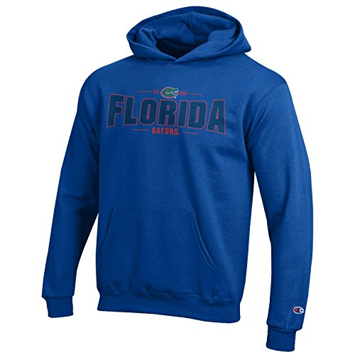 Champion NCAA Youth Long Sleeve Fleece Hoodie Boy's Collegiate Sweatshirt Florida Gators X-Large