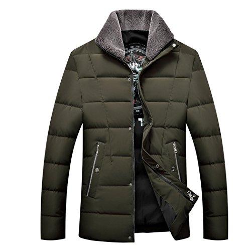 Il Vestiti Verde Hhy Età inverno Libero Imbottiti Per Di Tempo I 190 Vestiti Cotone Oliva Uomini Mezza Degli Ispessimento Solidi rxrqTECw6F