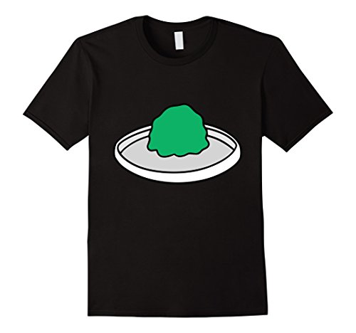 Mens Wasabi - Sushi and Wasabi Matching Halloween Costume Shirt Large Black