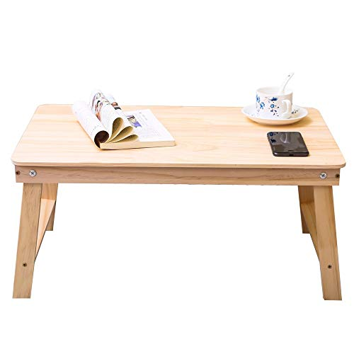 (Solid Wood Folding Table, Laptop Table, Lazy Table, Student Dormitory Study Table, Portable Breakfast Table, Stylish Dining Table, Leisure Table-New Zealand Pine,Suitable for)