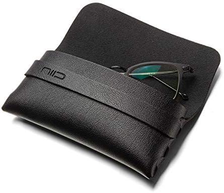 ligera Niid color negro Funda para gafas de piel sint/ética
