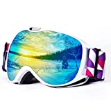 9625a461b2d 4 · Speefish Kids Snow Ski Goggles Anti Fog Dual Lens UV Protection 3 Layers