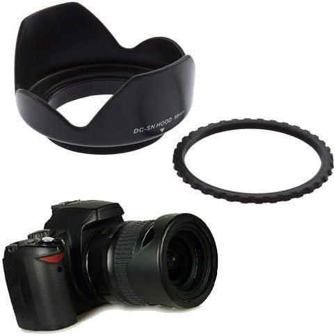 Lens Cap Keeper /& Microfiber Cloth 7DII 7D 80D 5DS 5DII Center Pinch Lens Cap 60D 5DS R 5D Tronixpro 58mm Hard Tulip Reversible Lens Hood Kit for Canon 70D 5DIII 50D